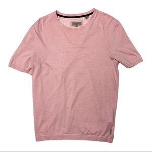 TED BAKER Pink pinstripe Cotton T-Shirt Men's 3